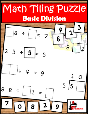 Free division tiling puzzles to help students look at multiplication and division in a new and different way - from Raki's Rad Resources.
