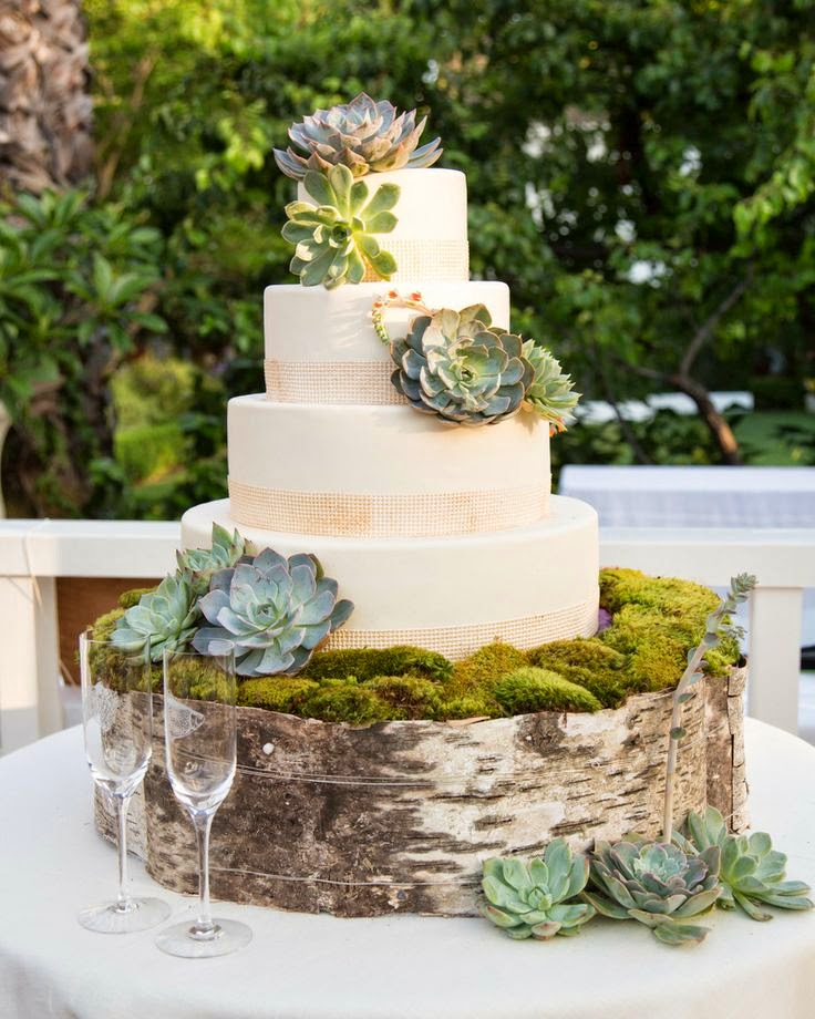Simple Country Wedding Ideas: Rustic Wedding Cakes