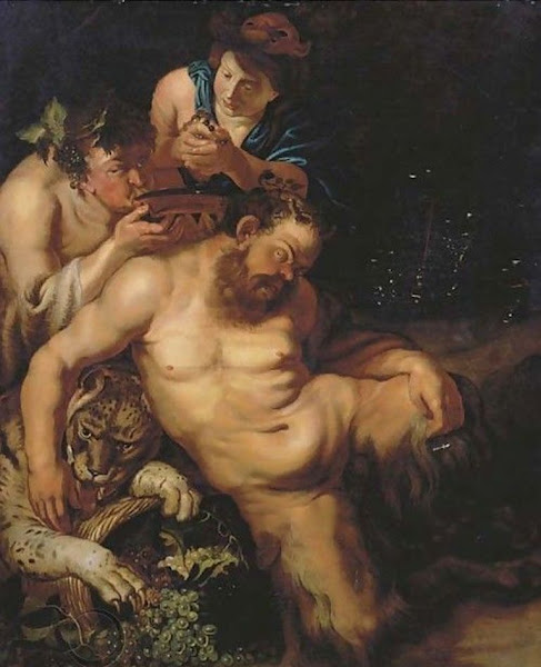 Drunken silenus attended by bacchantes by Peter Paul Rubens, Classical mythology, Greek mythology, Roman mythology, mythological Art Paintings, Myths and Legends