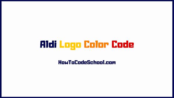 Aldi Logo Color Code