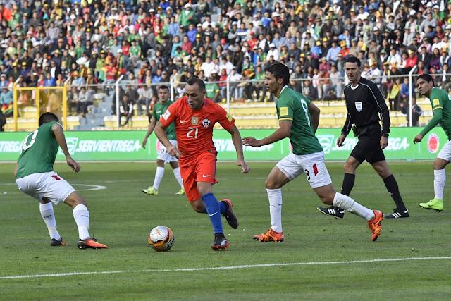 Bolivia y Chile en Clasificatorias a Rusia 2018, 5 de septiembre de 2017