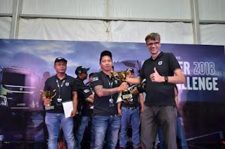 Rivaldi Raih Predikat Pengemudi Truk Terbaik  di Ajang Volvo Truks Indonesia Driver Chalange 2018