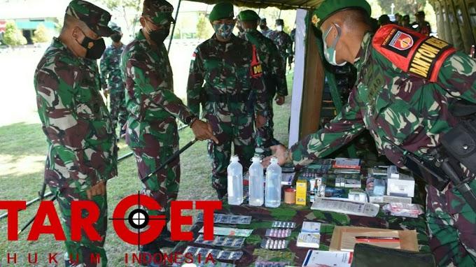 Cek Kesiapan Satgas Pamtas RI-PNG, Tim Mabesad Kunjungi Yonif 410 Alugoro