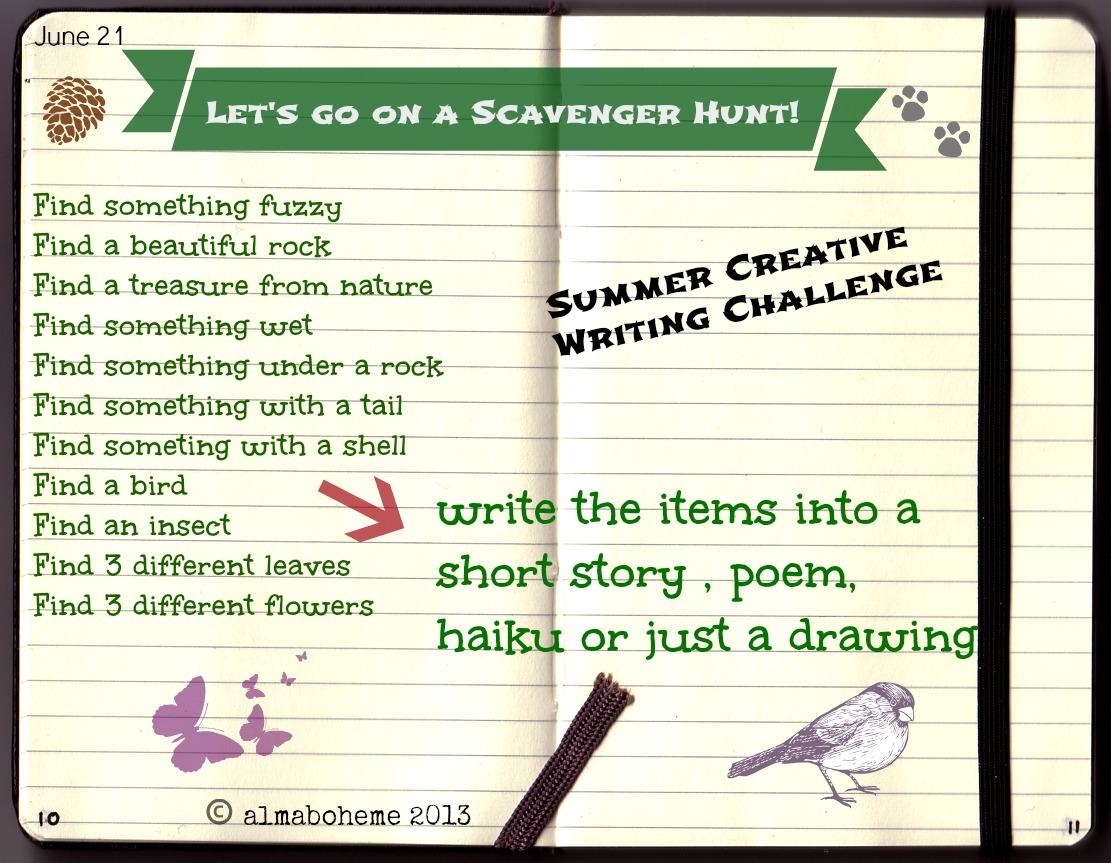 scavenger hunt for summer solstice creative writing challenge  scavenger hunt for summer solstice creative writing challenge for kids
