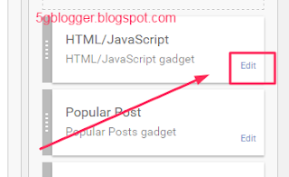 how to find widget id in blogger