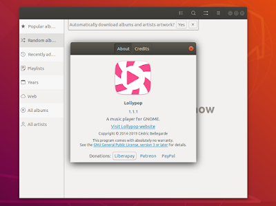 Install Lollypop 1.1.1 on Ubuntu and Linux Miny system [PPA]