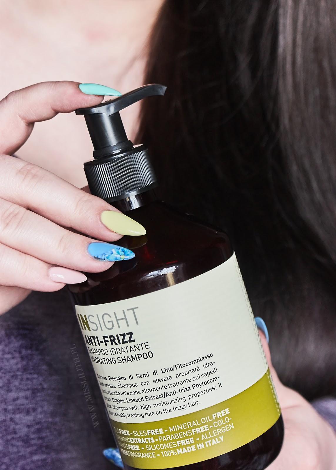 Kosmetyki Insight, nawilżająca maska szampon odżywka Anti-Frizz blog opinie
