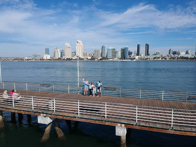 Ferry's Landing with the San Diego skyline