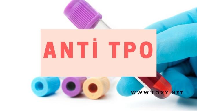 anti tpo nedir anti tpo yüksekliği