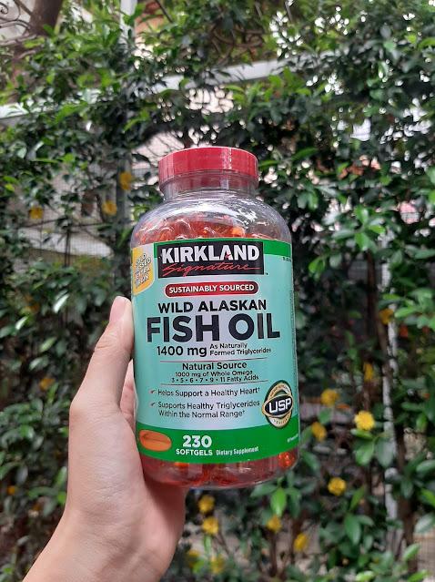 Dầu cá Kirkland Wild Alaskan Fish Oil 1400mg hộp 230 viên tại Hàng Ngoại Nhập Store