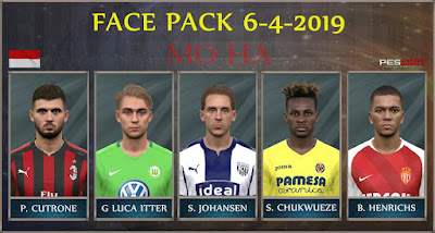 PES 2017 Facepack 6-4-2019 by Mo Ha