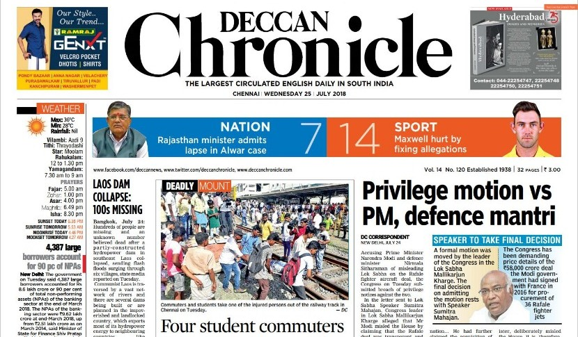 Deccan Chronicle News Paper Pdf