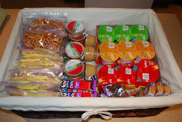 School Lunches snack basket