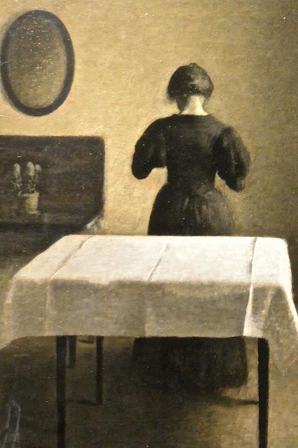 Nationalmuseum de Stockholm : Wilhelm Hammershoi(1864-1919) Intérieur (1898)