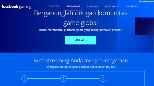 Facebok live streaming gaming terbaik 2019