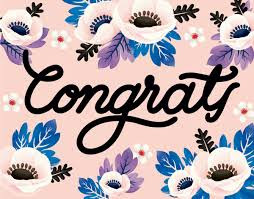 Congratulation.