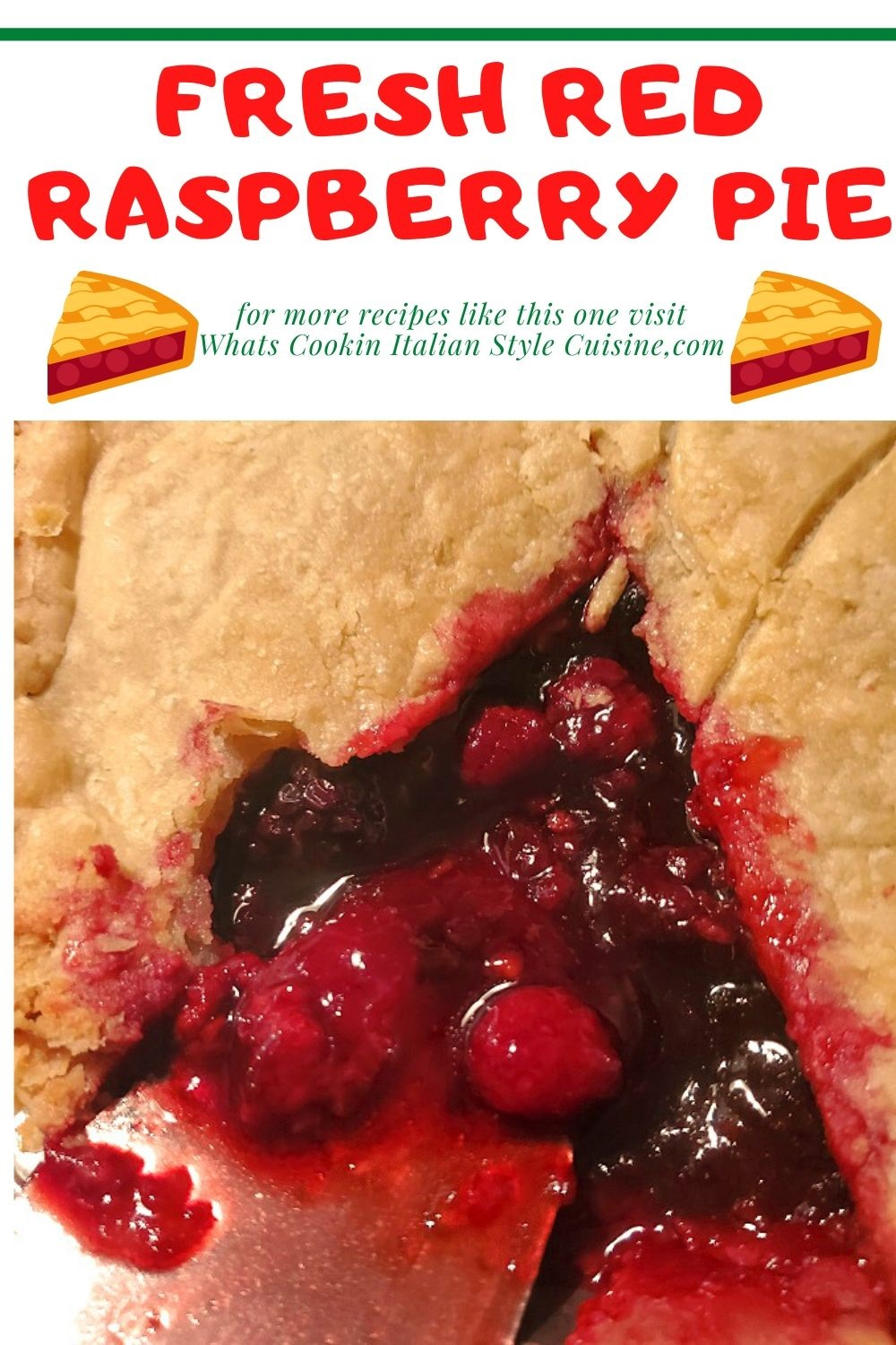 this is a fresh red raspberry pin for later on how to make this pie