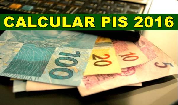 Calcular PIS 2016