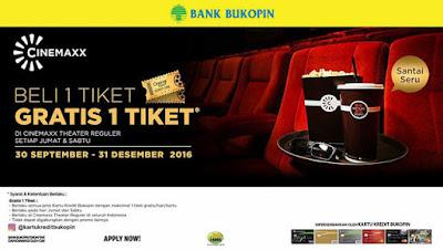 Beli 1 Tiket Gratis 1 Tiket Cinemaxx – Bank Bukopin