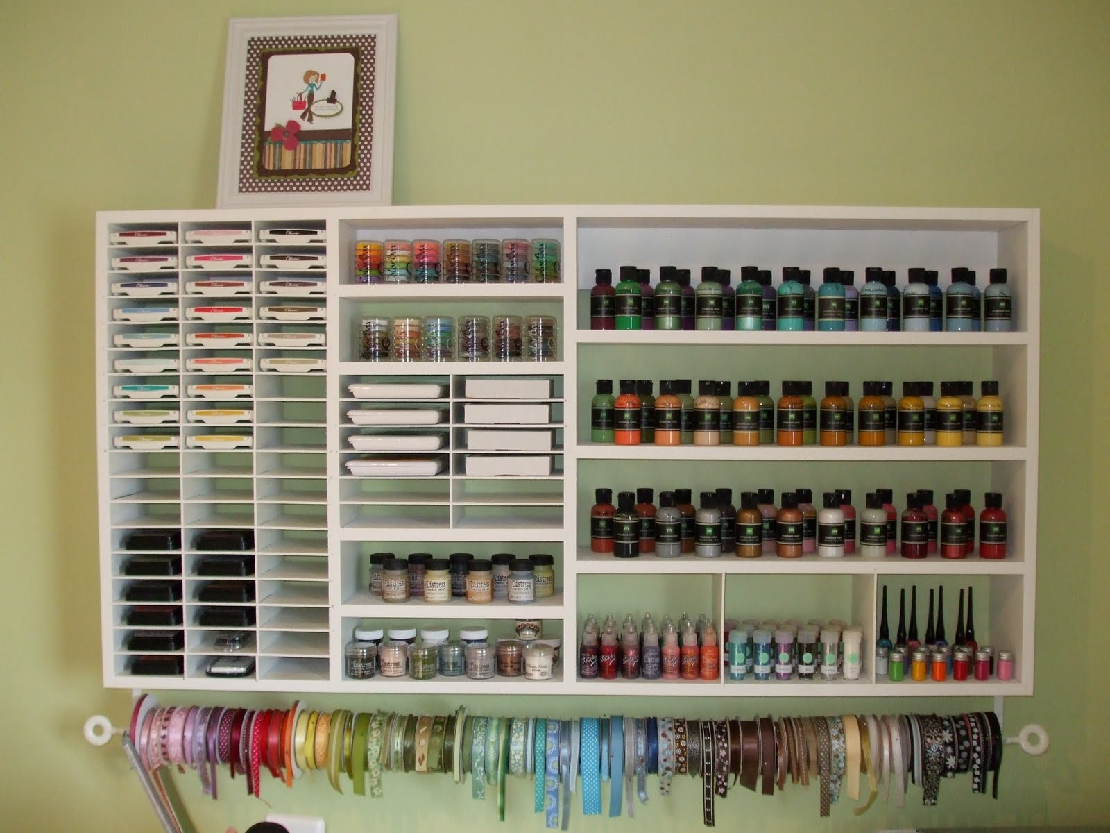 Storage For Craft Room: Scrapbook Room Organization