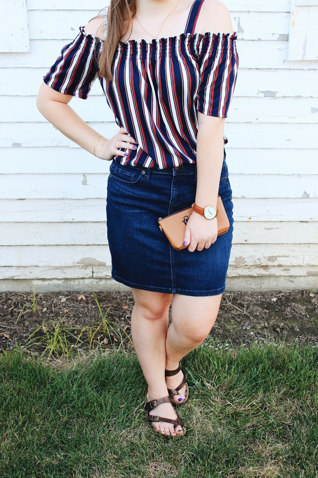 Styling a Denim Skirt