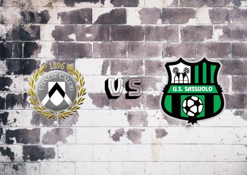 Udinese vs Sassuolo  Resumen