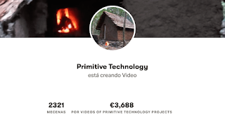 Mecenas en Patreon del canal Primitive Technology