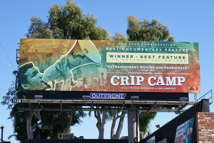 Crip Camp consideration billboard