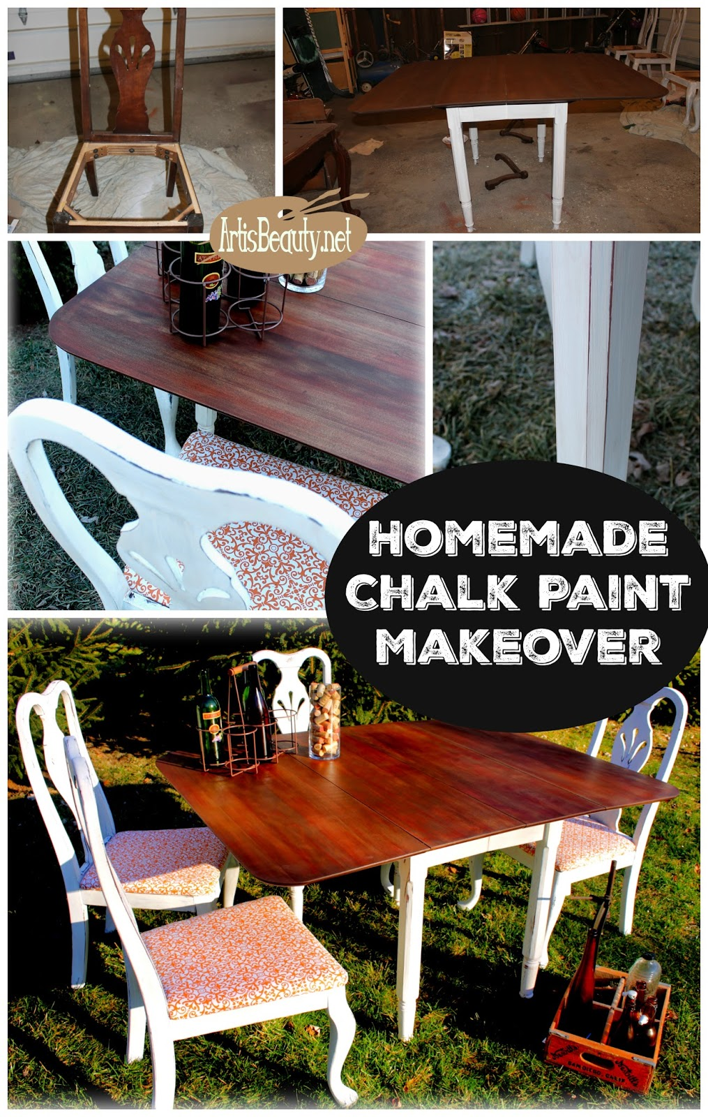 Homemade Chalk Paint Dining Set