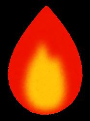 赤い火のイラスト