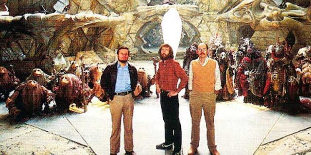 Jim Henson, Frank Oz y Brian Froud en 'Cristal Oscuro'