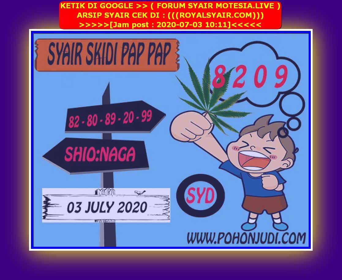 Kode syair Sydney Jumat 3 Juli 2020 108