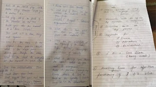 Sushant Singh rajput Diary Pages