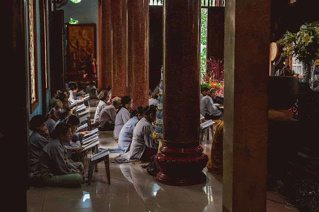 Why should sit in temple