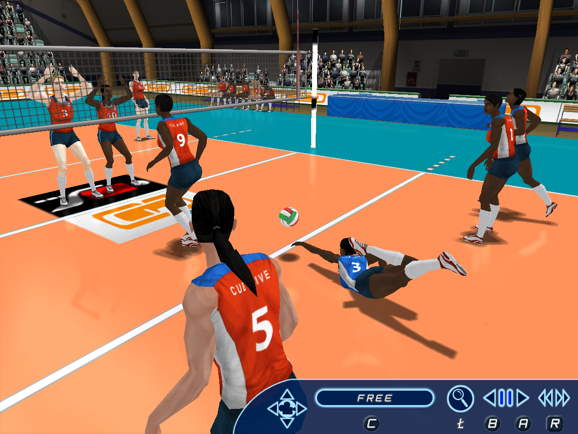 Game of volleyball