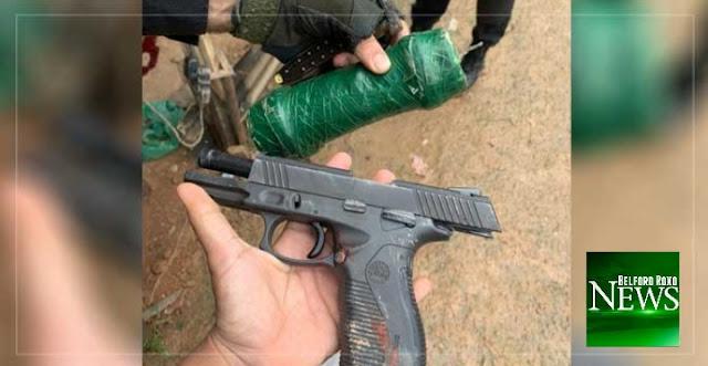 Polícia prende cinco elementos e apreende granada e pistola em Belford Roxo