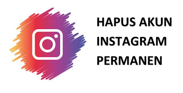 Mudahnya mengahpus akun instagram secara permanent