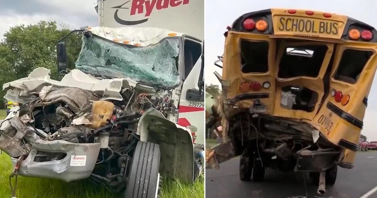 Truck Driver Dies After Rescuing Children From School Bus Crash