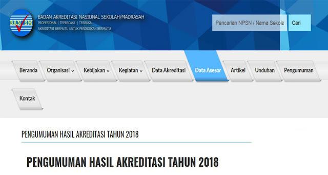 Cek Pengumuman Hasil Akreditasi S/M Seluruh Provinsi