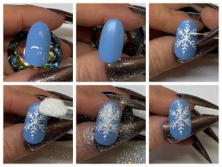 Glitter Embossed Snowflake