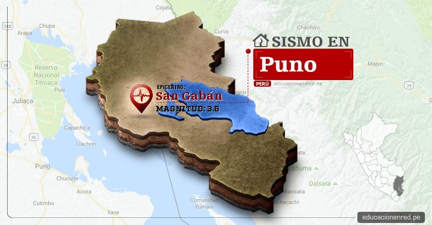 Temblor en Puno de 3.6 Grados (Hoy Jueves 2 Marzo 2017) Sismo EPICENTRO San Gabán - Carabaya - IGP - www.igp.gob.pe