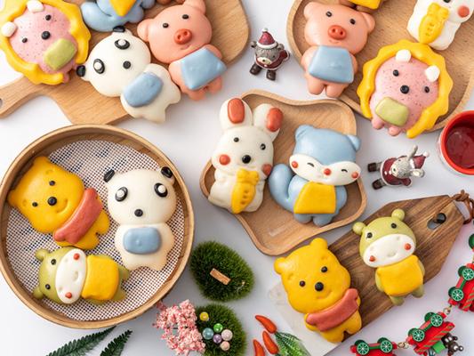 Cute Fruit, Vegetable & Cartoon Steam Buns(Baozi) For Kids