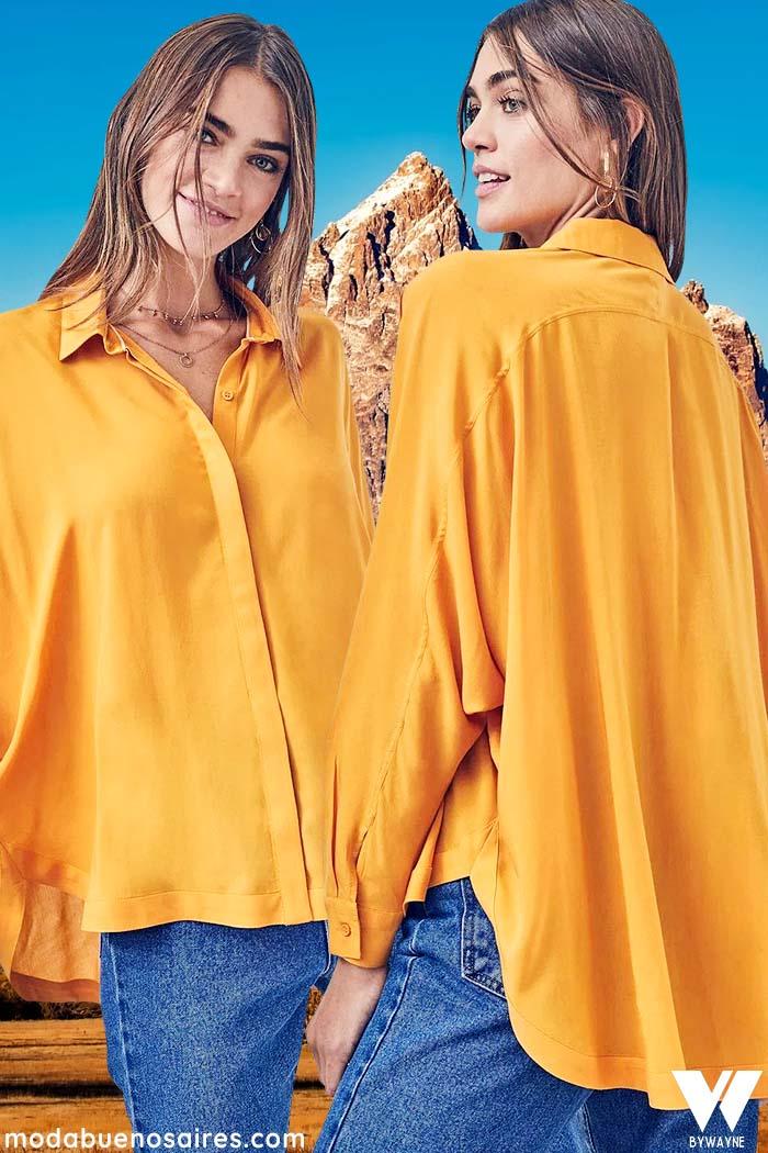 blusas y camisas de moda para mujer invierno 2021