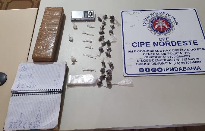 CIPE/Nordeste apreende drogas em bairro de Araci