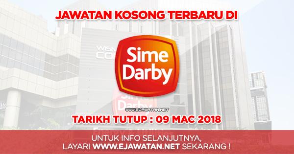 jawatan kosong sime darby 2018