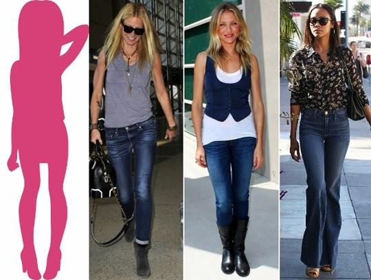 memilih jeans terbaik untuk tipe tubuh lurus