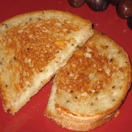 Grilled cheese with rye and havarti