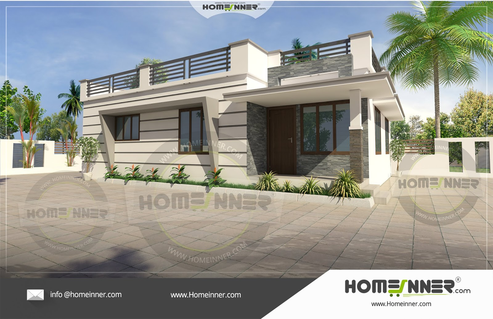 10 Lakh 3bhk 1100 Sq Ft Kochi Villa Floor Plan