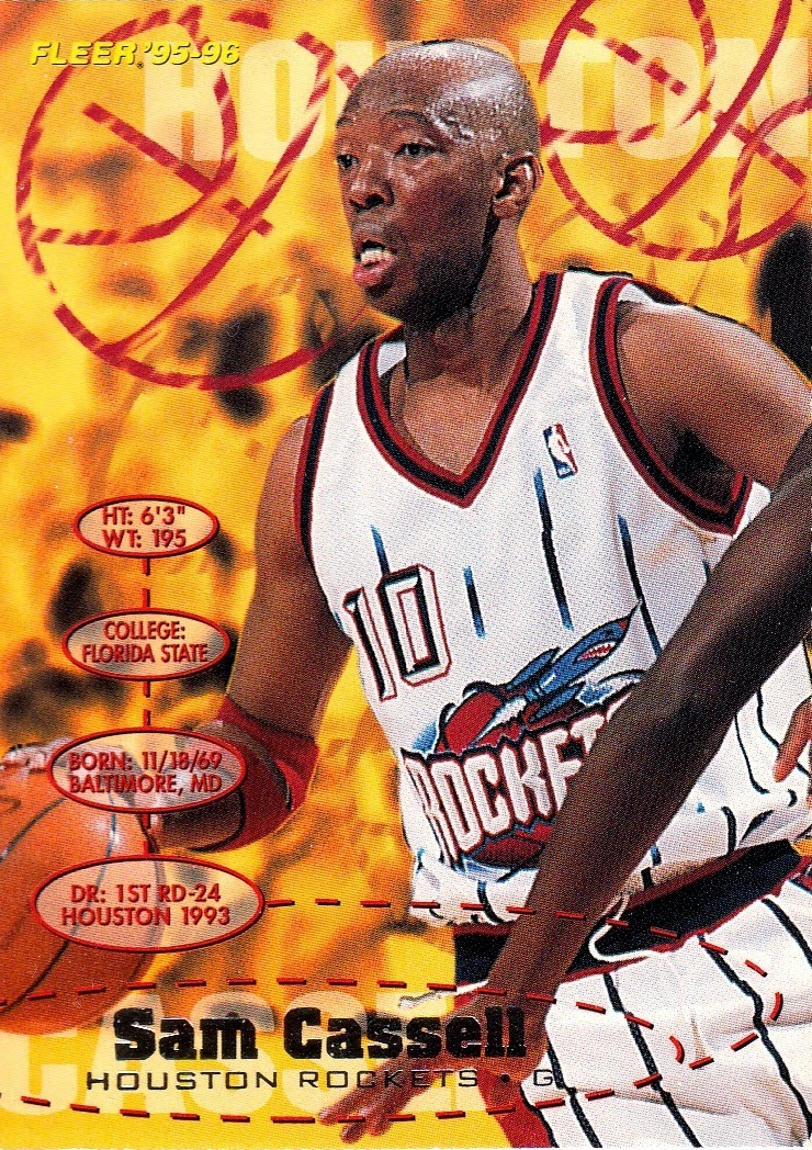 496fe0ef1e79 The 1995-96 Fleer design was unusual in that it wasn t one unified design.  Each of the four divisions of the NBA got it s own design