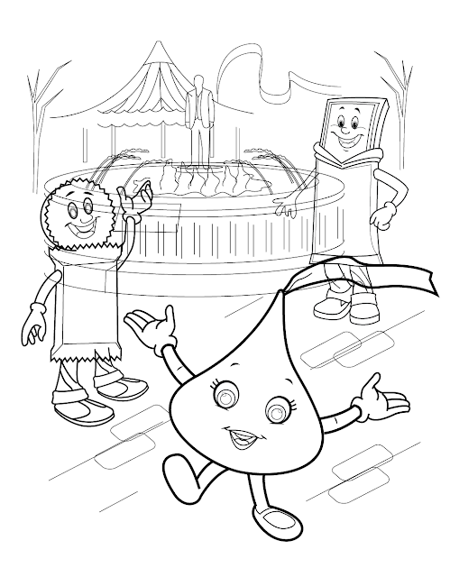 Hershey Chocolate Coloring Pages - Free Coloring Pages